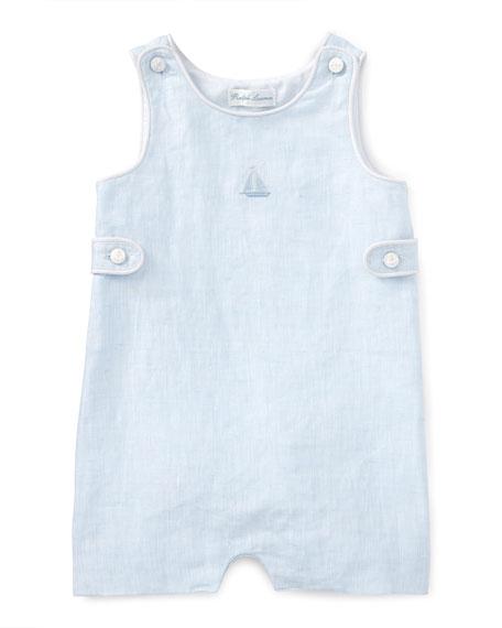 Ralph Lauren ChildrenswearHeathered Linen Overalls, Blue, Size