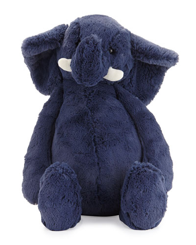 Medium Bashful Elephant, Blue