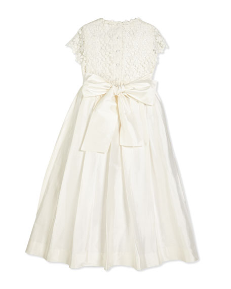 Bethany Long Snowflake Dress, Ivory, Size 2-14