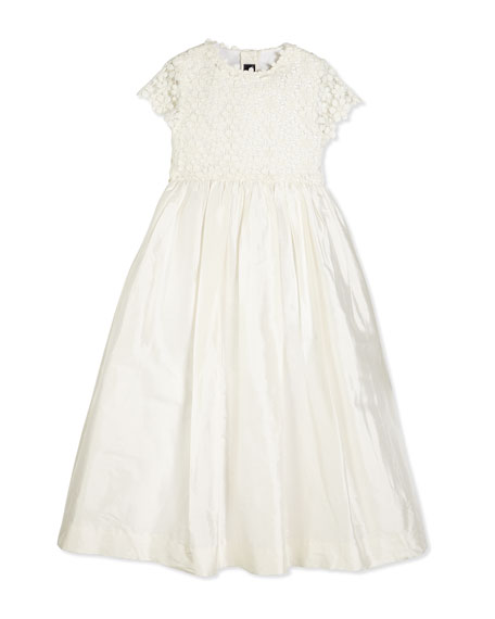Oscar de la Renta Bethany Long Snowflake Dress,
