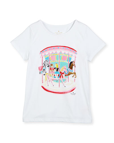 caitlin carousel jersey tee, fresh white, size 2-6