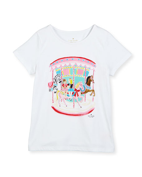caitlin carousel jersey tee, fresh white, size 7-14