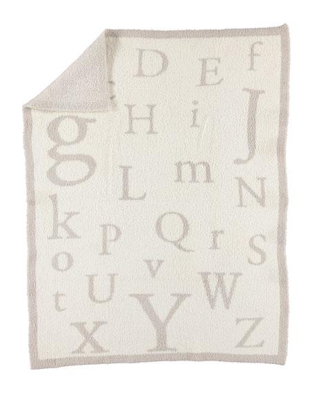 Barefoot Dreams CozyChic® Alphabet Blanket, Stone/Cream