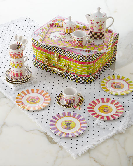 MacKenzie-Childs Tea Party Tea Set