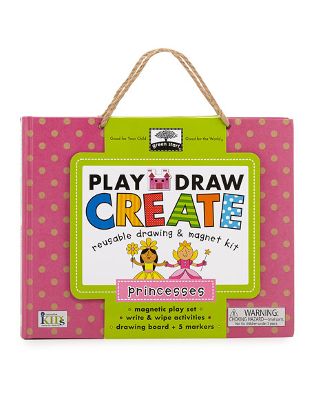 princess play draw book