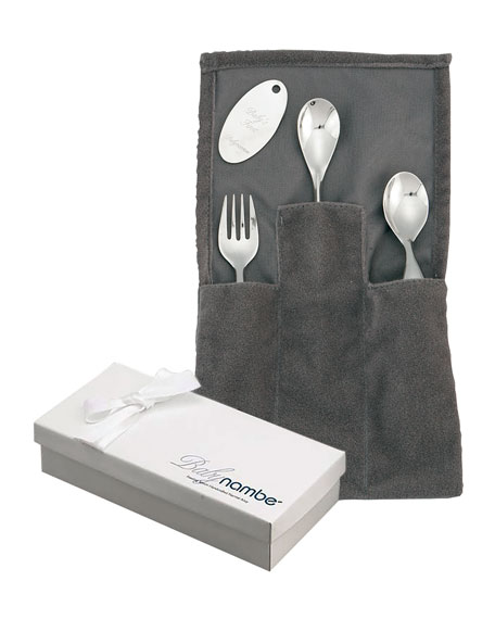Classic Stainless Steel Three-Piece Feeding Set