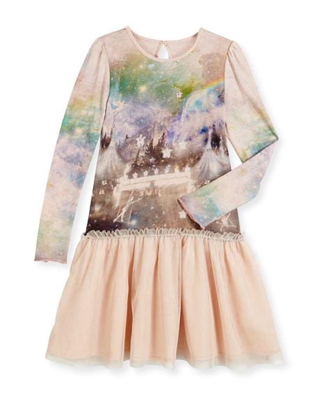 Stella McCartneyPrimrose Long-Sleeve Circus-Print Combo Dress,