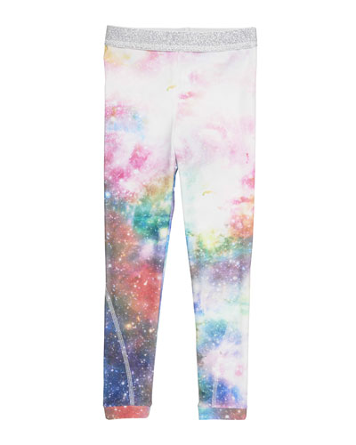 Tula Galaxy-Print Leggings, Multicolor, Size 4-14
