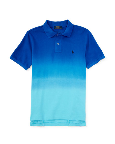 Ralph Lauren Childrenswear Dip-Dyed Basic Mesh Polo Shirt,