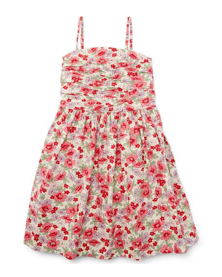 Ralph Lauren Childrenswear Sleeveless Floral Button-Back Sundress, Pink, ...