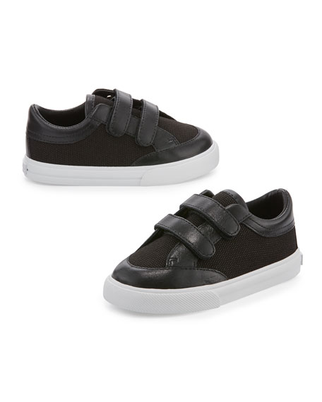 Burberry Heacham Solid Canvas Sneaker, Black, Infant