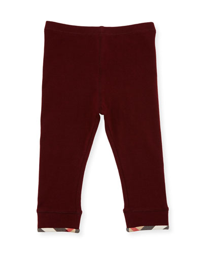 Penny Stretch Jersey Leggings, Deep Claret, Size 6M-3