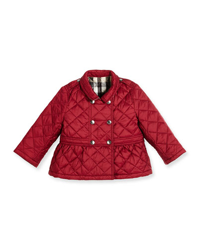 Mini Portree Military Jacket, Dark Plum Pink, Size 12M-3