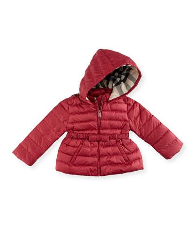 Janie Hooded Puffer Jacket, Pink/Purple, Size 12M-3
