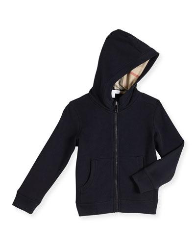 Pearcy Hooded Jersey Sweatshirt, Dark Navy, Size 4-14