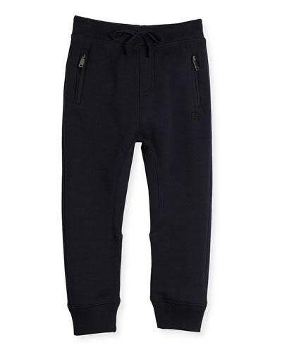 Phill Cotton Track Pants, Dark Navy, Size 4-14