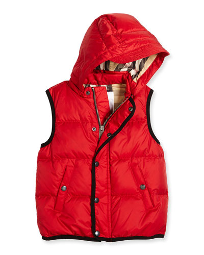 Carlton Puffer Vest, Military Red, Size 4-14