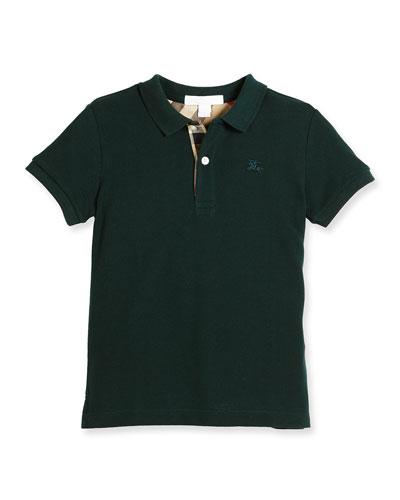 Mini PPM Jersey Polo Shirt, Racing Green, Size 4-14