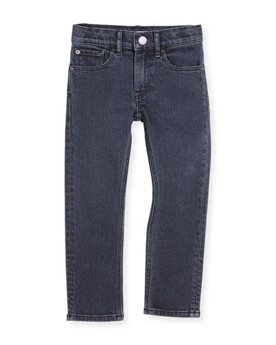 Stretch Denim Skinny Jeans, Charcoal, Size 4-14