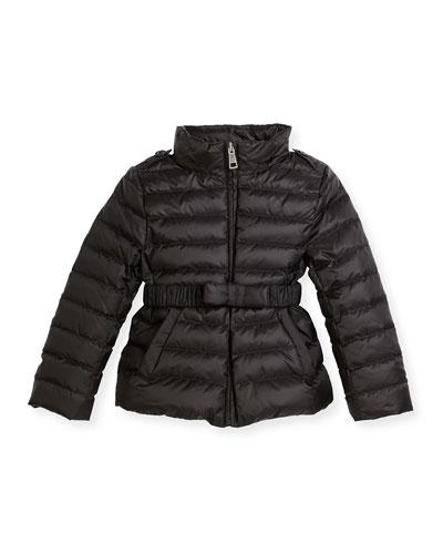 Janie Hooded Puffer Jacket, Pink/Purple, Size 4-14