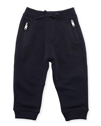 Phill Cotton Track Pants, Dark Navy, Size 6M-3