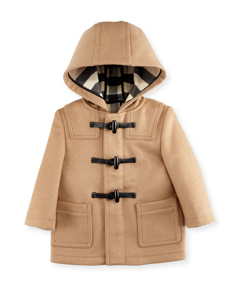 Burberry Brogan Hooded Duffle Coat, New Camel, Size