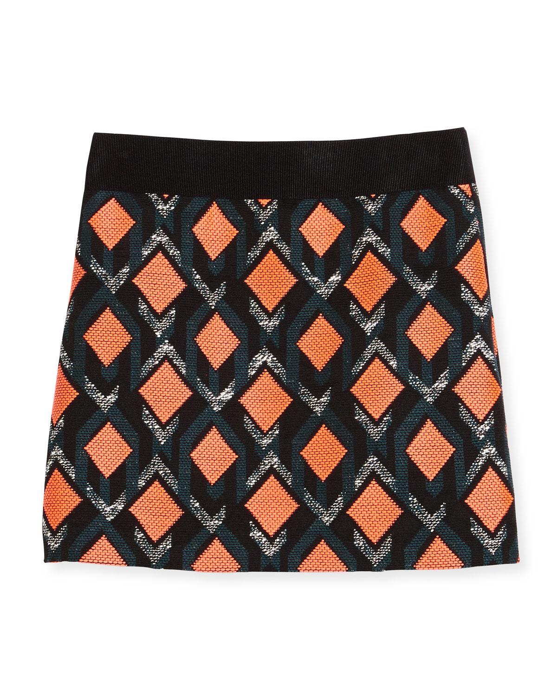 75e3d624d13302 Milly Minis Diamond Jacquard Mini Skirt, Multicolor, Size 8-14 ...