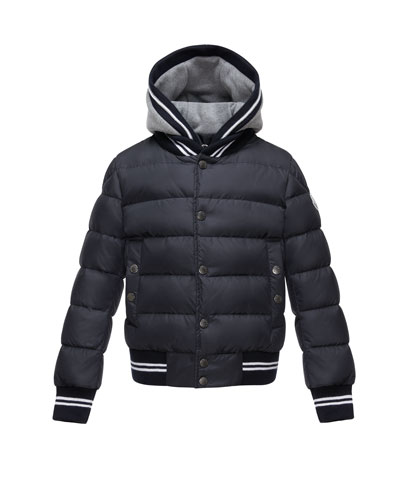 Auberie Tipped Puffer Jacket, Navy, Size 4-6