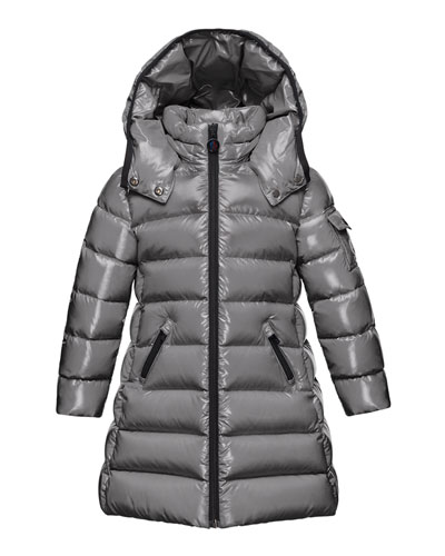 Moka Hooded Puffer Coat, Navy, Size 4-6