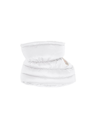 Puffer Booties, White, Infant