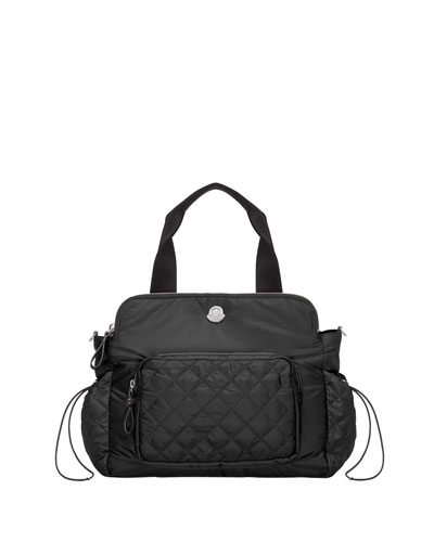 Mommy Nylon Diaper Bag, Black