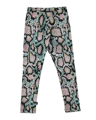 Niki Rattlesnake Stretch Leggings, Multicolor, Size 3-14