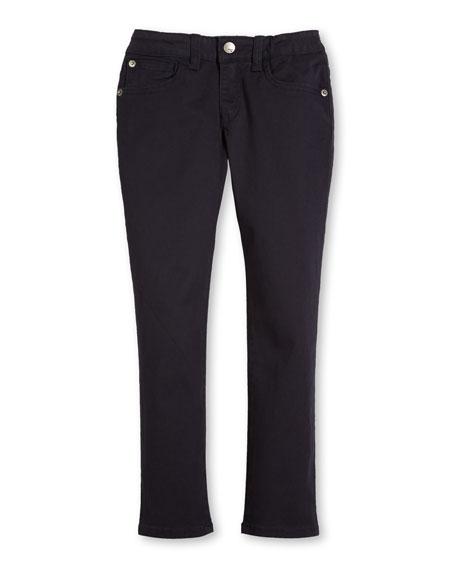 Armani Junior Skinny Stretch Chino Pants, Navy, Size