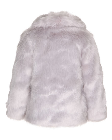 Hester Faux-Fur Jacket, Gray Dawn, Size 3-14