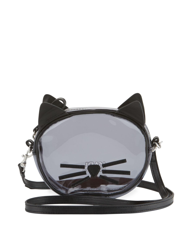 Karl Lagerfeld Girls Transparent Cat Crossbody Bag Black Neiman