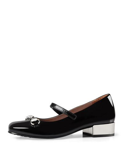 Lillian Patent Leather Mary Jane, Black, Youth