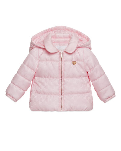 GG Jacquard Puffer Jacket, Rose, Size 6-36 Months
