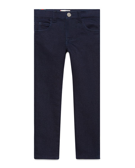 Gucci Slim Stretch Denim Pants, Indigo, Size 4-12