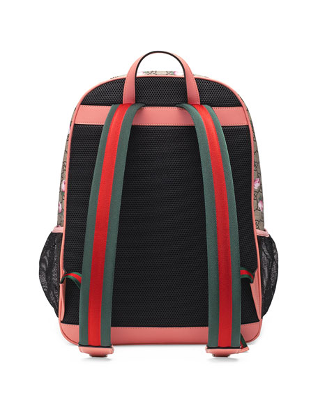 Gucci Classic GG Supreme Rose Backpack Diaper Bag, Beige