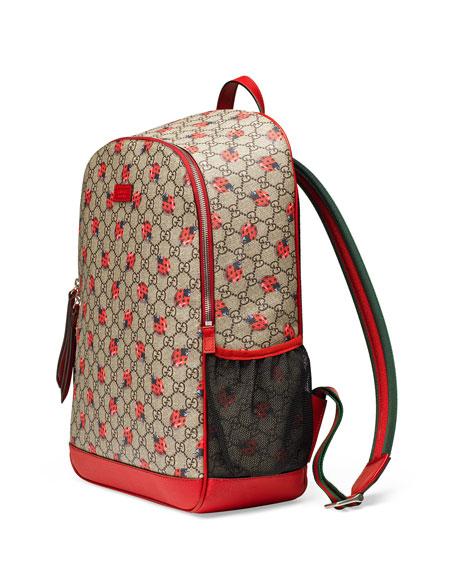 gucci bags backpack. classic gg supreme ladybug backpack diaper bag, beige gucci bags