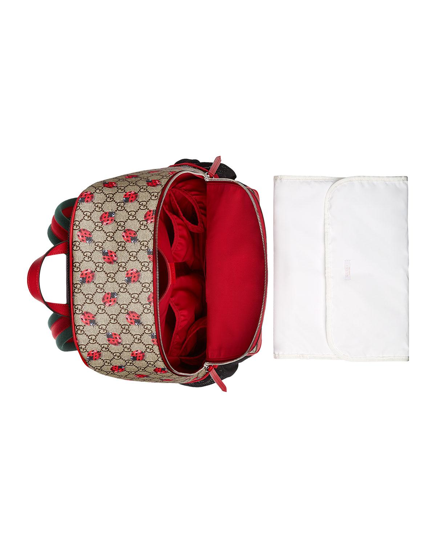 a301e64a13af Gucci Classic GG Supreme Ladybug Backpack Diaper Bag, Beige | Neiman Marcus