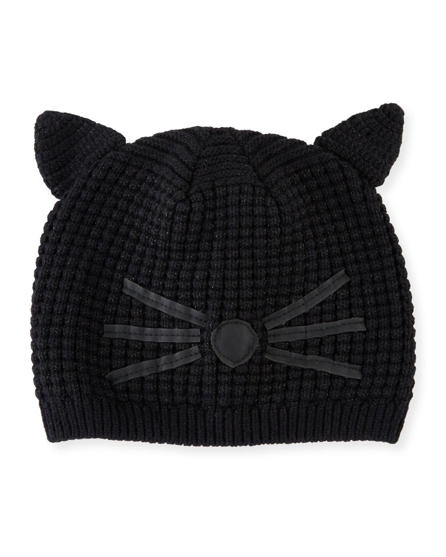 Karl Lagerfeld Girls  Knit Cat Beanie 3b0e2cd74cb
