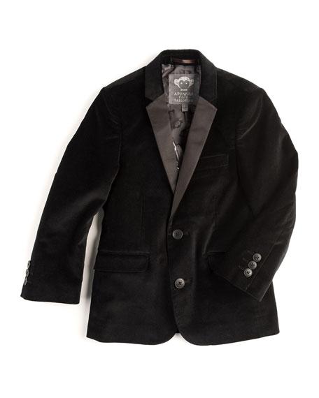 Appaman Velvet Tuxedo Blazer, Black, Size 2T-14