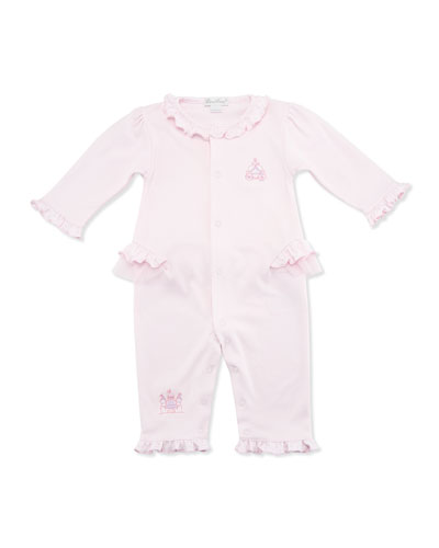 Make Believe Pima Coverall, Light Pink, Size 3-24 Months