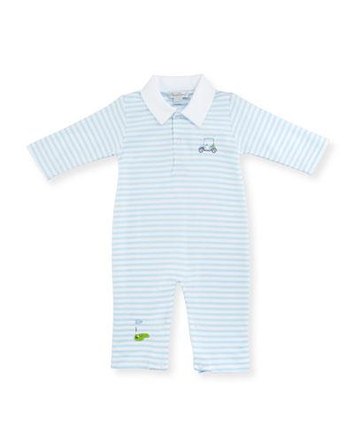 Mini Golf Convertible Pima Sleep Gown, Light Blue, Size Newborn-Small