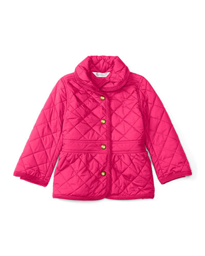 Shawl-Collar Barn Jacket, Pink, Size 9-24 Months