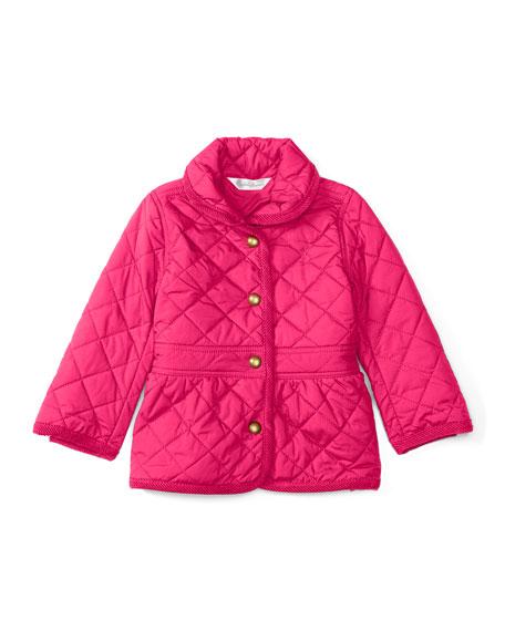 Ralph Lauren Childrenswear Shawl-Collar Barn Jacket, Pink, Size