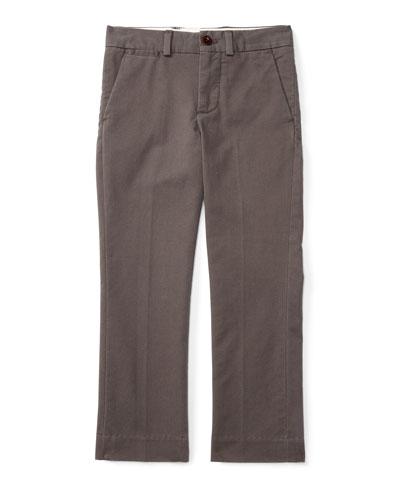 Straight-Leg Stretch Chino Pants, Size 2-7