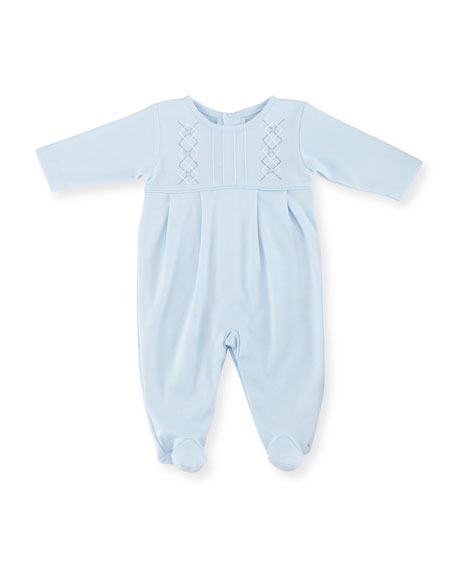 Kissy KissyBaby Argyle Pima Footie Pajamas, Light Blue,
