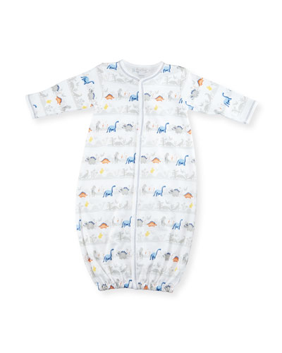 Jurassic Journey Pima Sleep Gown, Gray, Size Newborn-Small